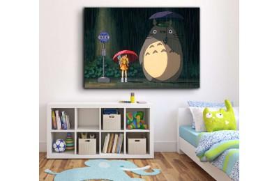 srco5 - Komşum Totoro, My Neighbour Totoro Anime Kanvas Tablo