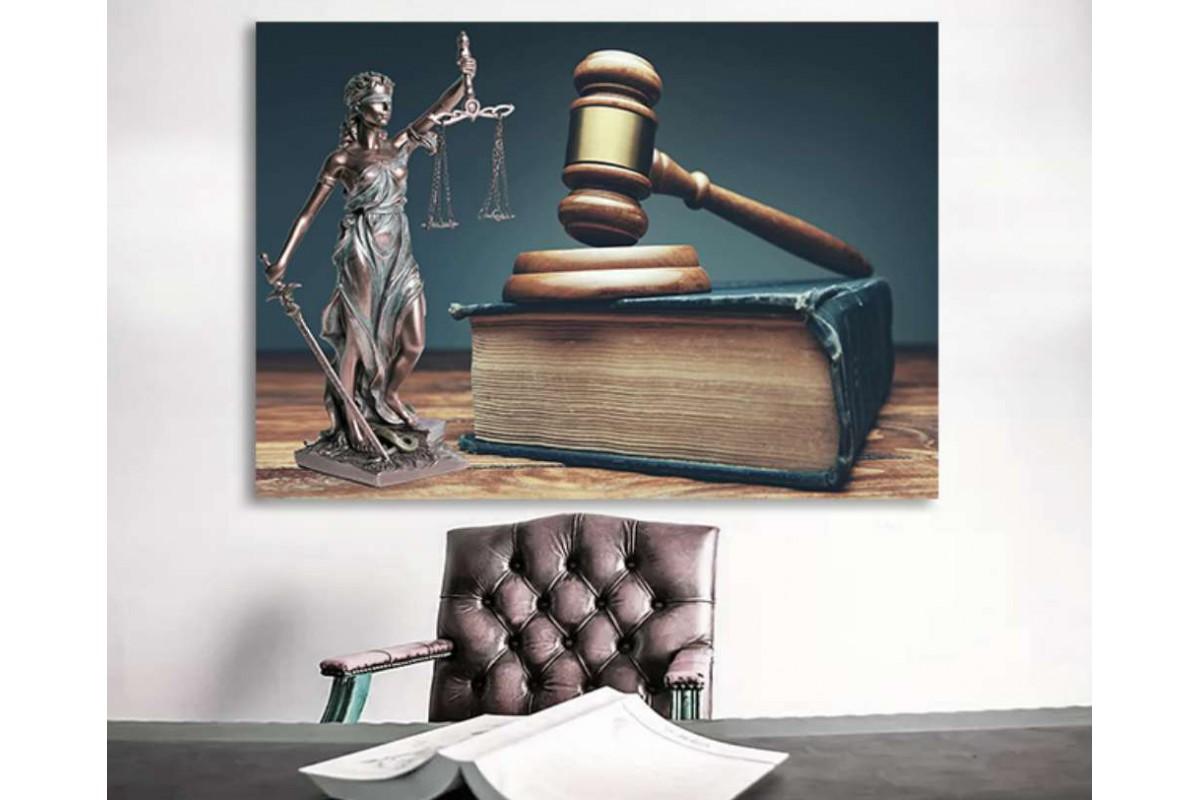 srhk11 - Adaletin Terazisi, Hakim Çekici, Hukuk Bürosu, Avukatlar için Kanvas Tablo