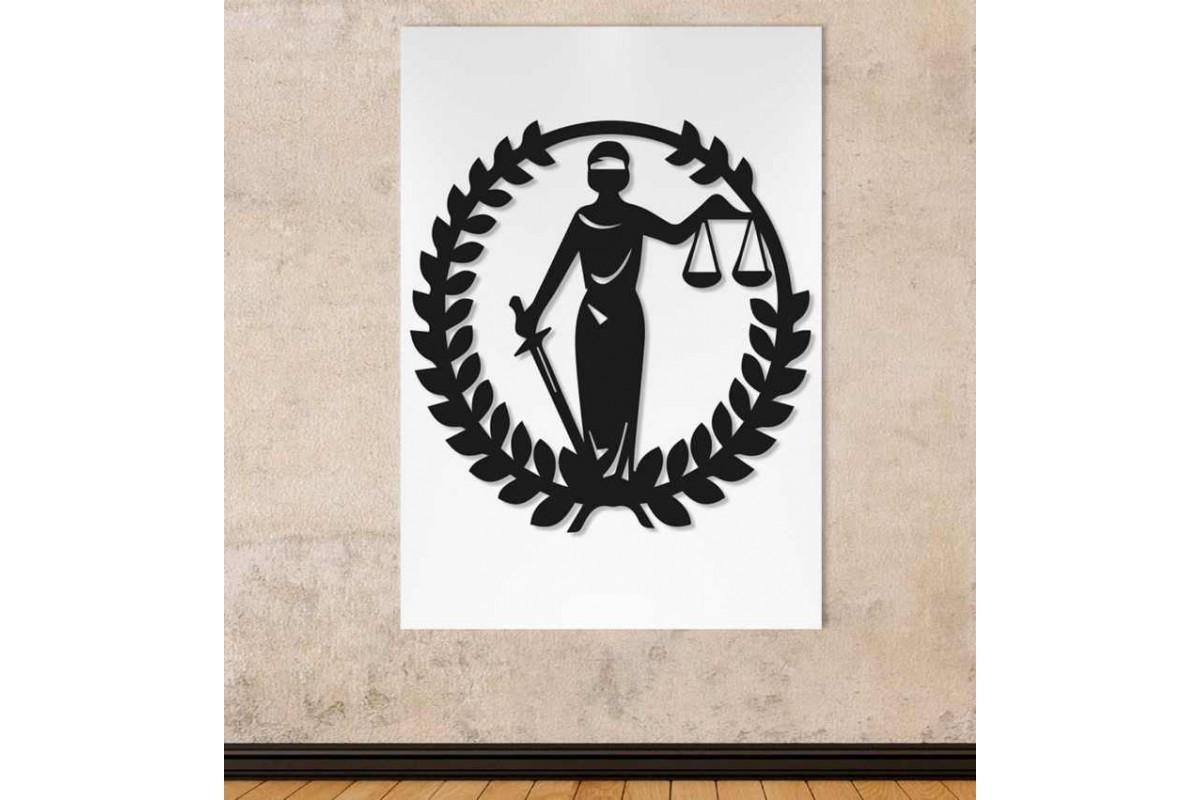 srhk7 - Adaletin Terazisi, Hukuk Bürosu, Avukatlar için Kanvas Tablo