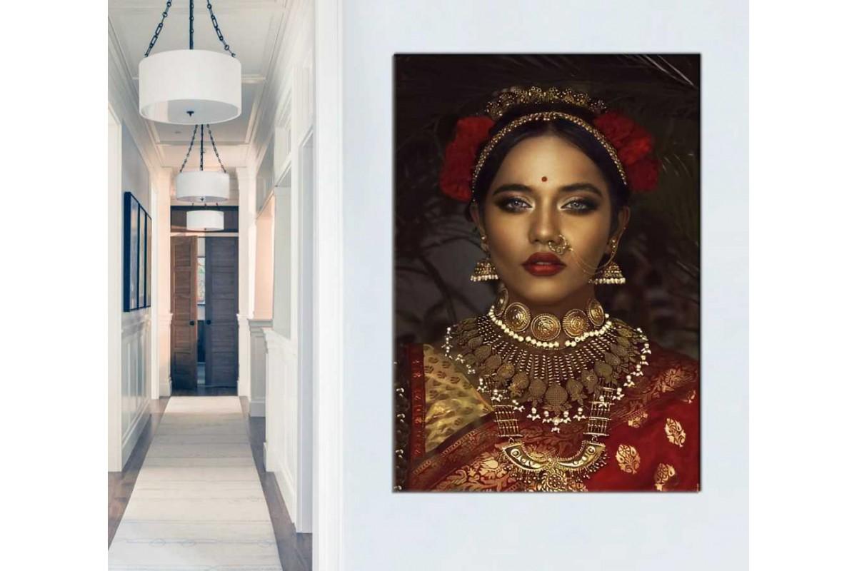 skrd67 - Uzak Doğulu Egzotik Güzel Kadın Dekoratif Kanvas Tablo