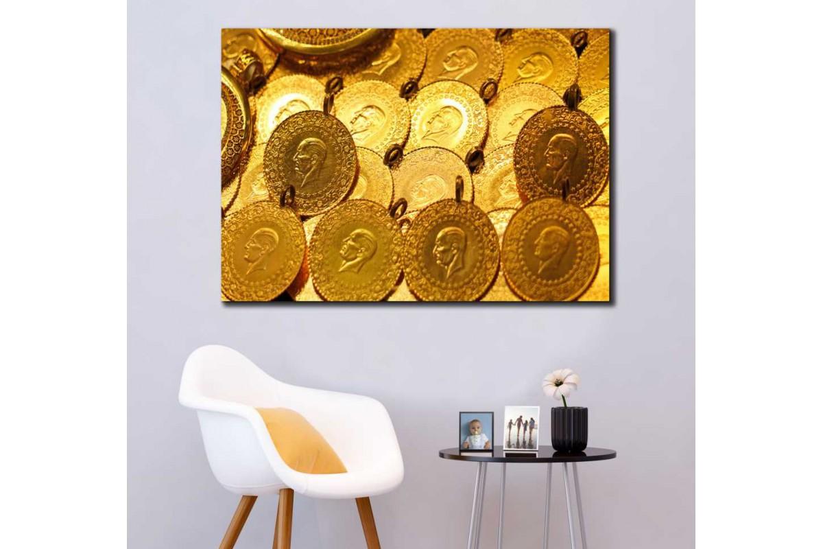skyg3 - Kuyumcu İçin Dekoratif Altınlar Kanvas Tablo