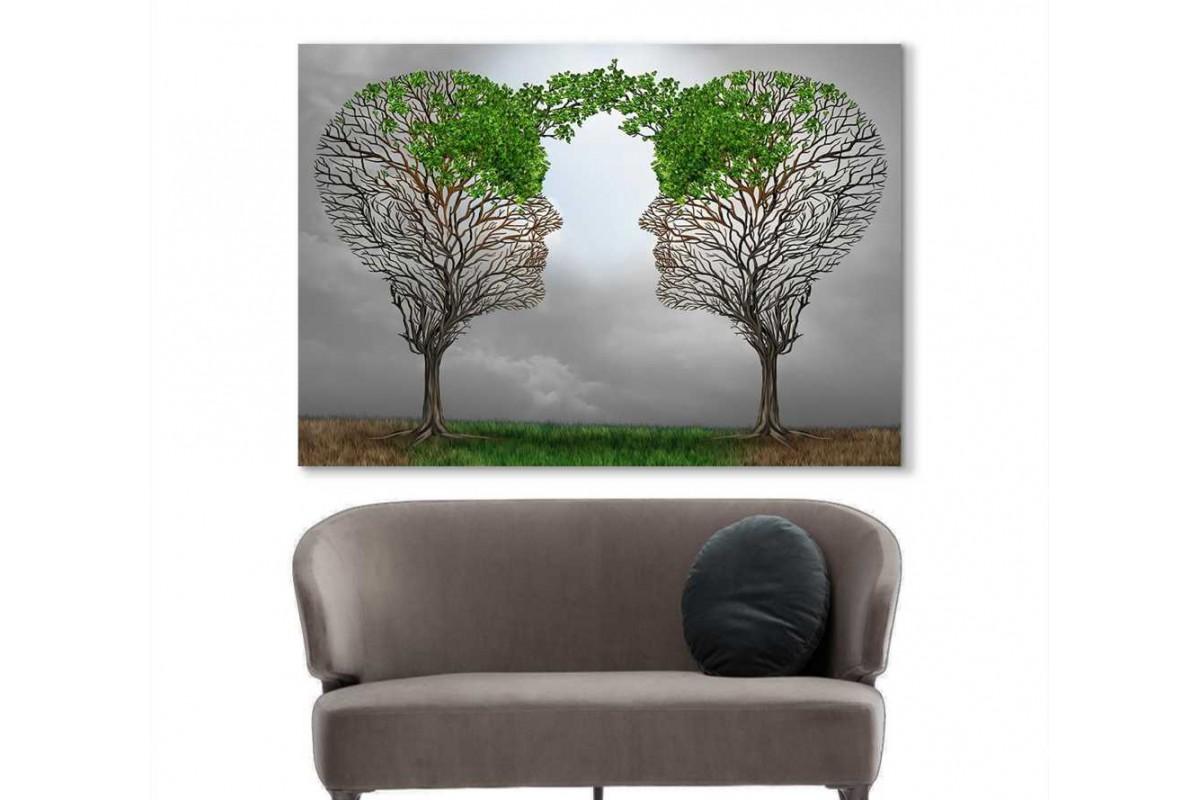 spsk9 - Hastasını Dinleyen Psikolog, Psikolog ve Danışanı, Psikoloji, Psikoterapist, Psikoloji Kanvas Tablo