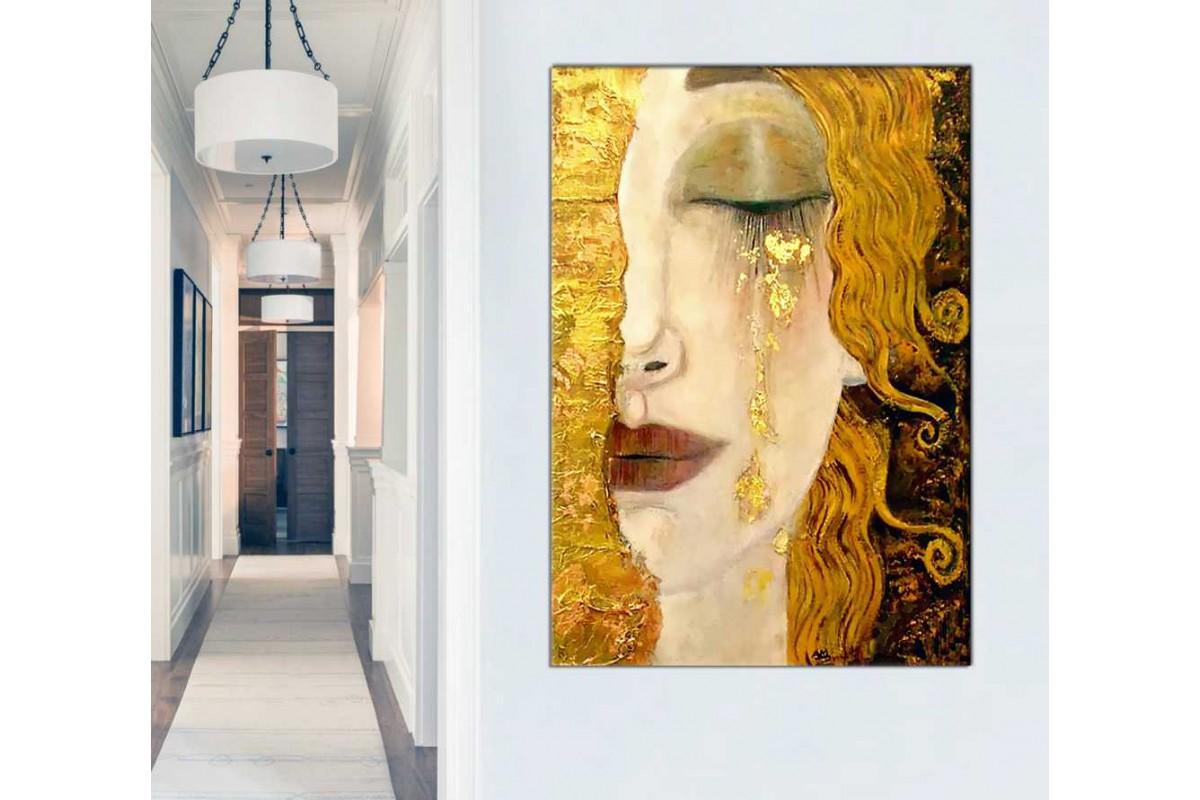 srgk2 - Gustav Klimt - Golden Tears, Freya's Tears - Altın Gözyaşları Kanvas Tablo