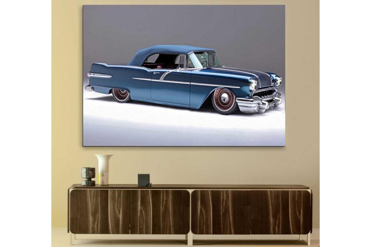 srvc37 - Pontiac Convertible 1956 Klasik Otomobil Kanvas Tablo