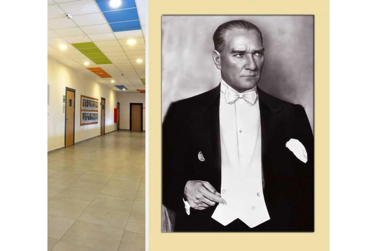 skra41 - Frak - Simokin Giymiş Mustafa Kemal Atatürk Kanvas Tablo