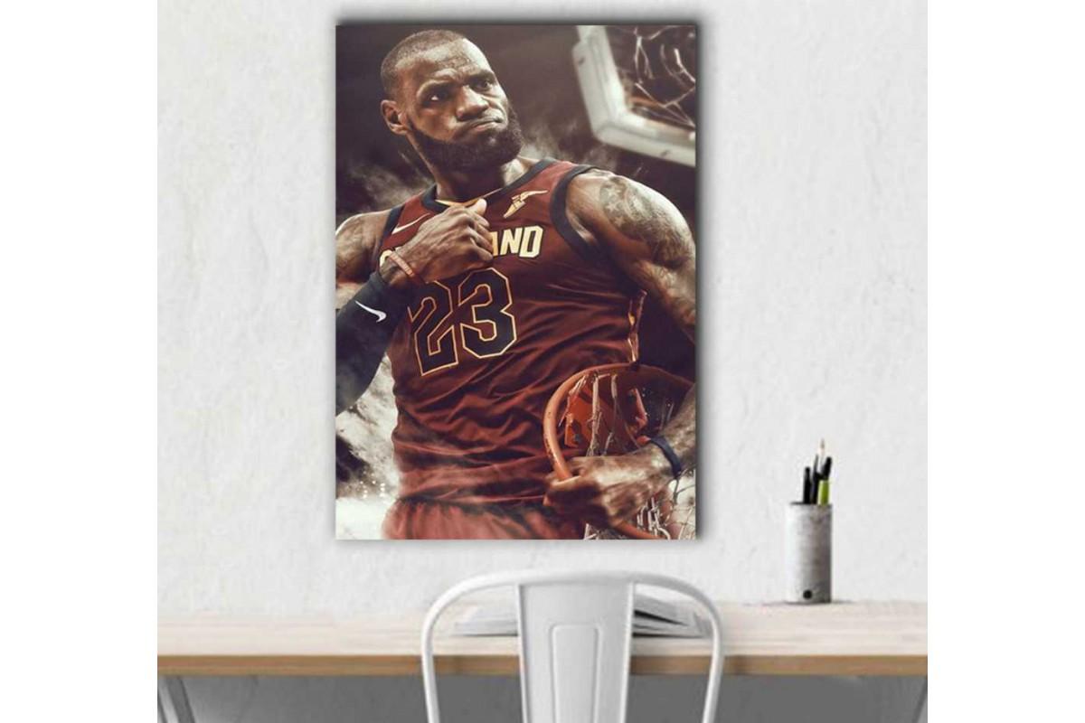 smj26 - Basketbolun Kralı Lebron James kanvas tablo