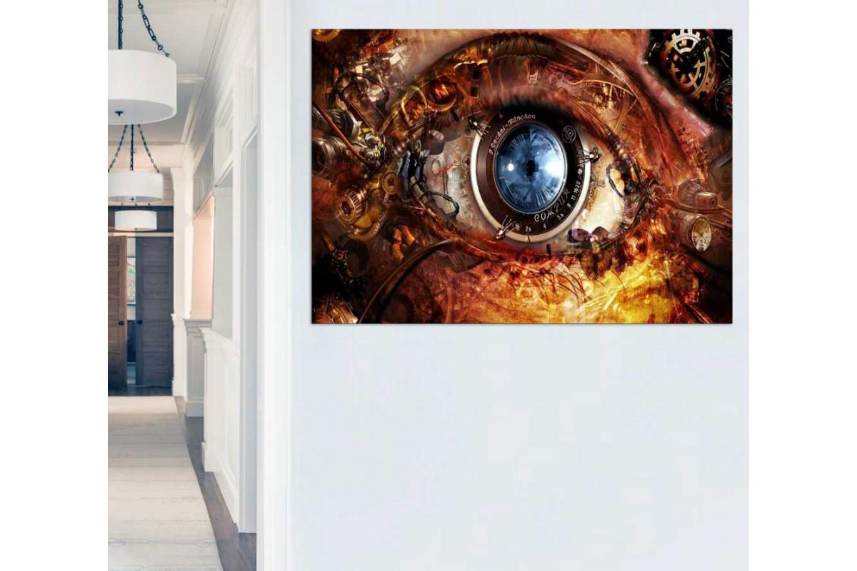 srks76 - Modern Sanat Göz ve Objektif Sürrealizm Kanvas Tablo