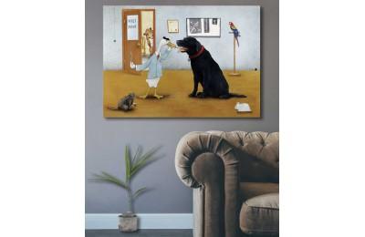 srvt5 - Pet Shop veya Veteriner Muayenehanesi İçin Kanvas Tablo