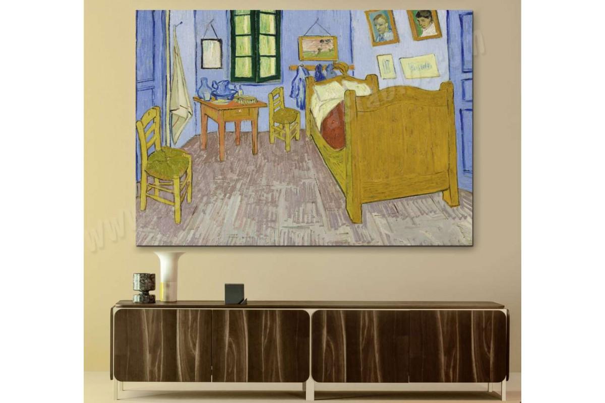 srvg6 - Vincent Van Gogh Bedroom, Yatakodası Kanvas Tablo