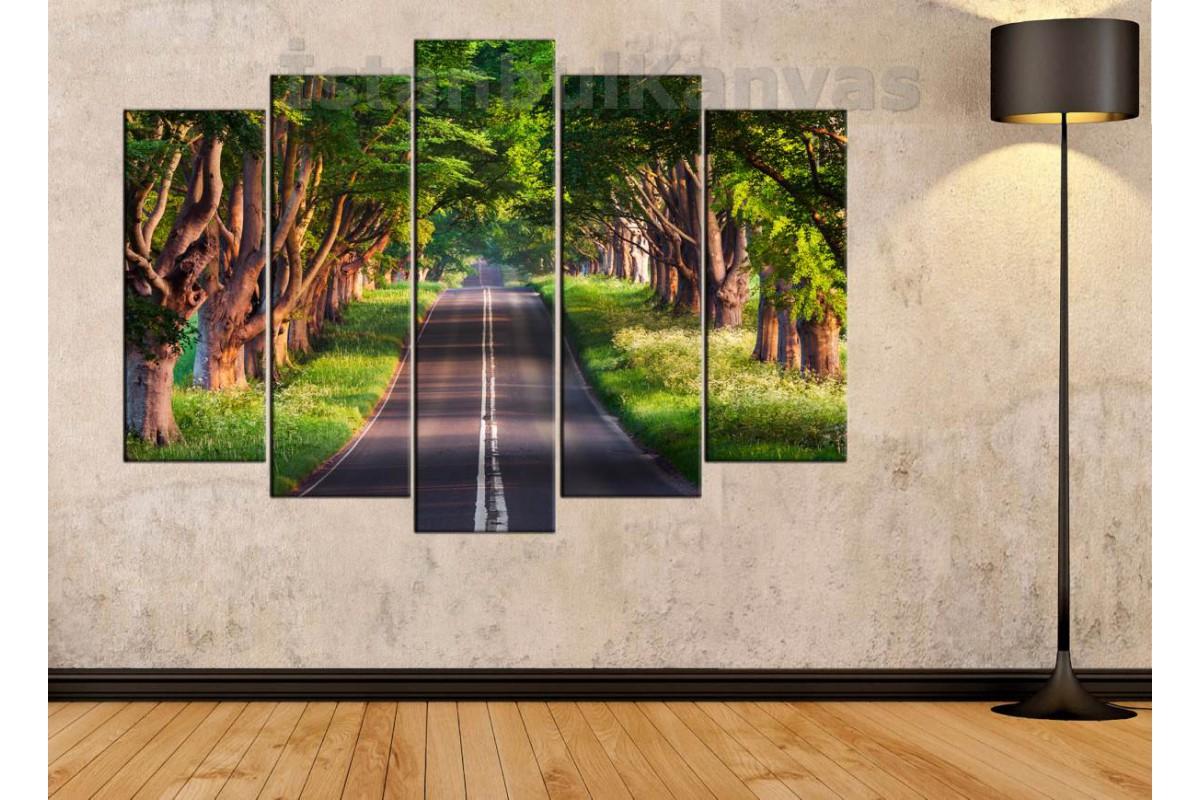 skr32 - Dekoratif Orman Yolu Manzarası Kanvas Tablo