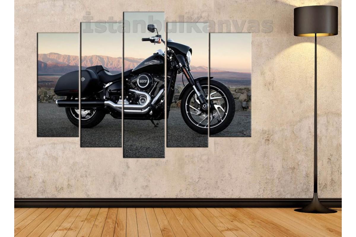 sm09 - Harley Davidson Cruize Motosiklet Kanvas Tablo