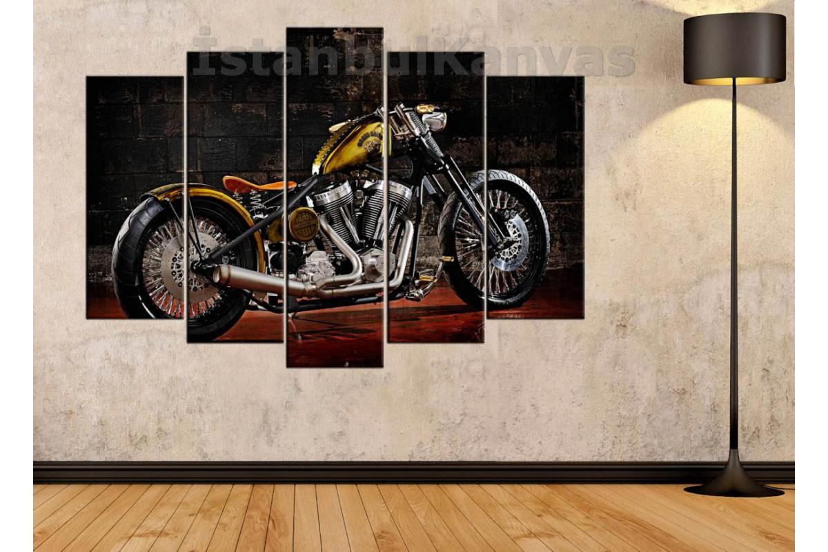 sm10 - Bras Balls Custom Motosiklet Kanvas Tablo