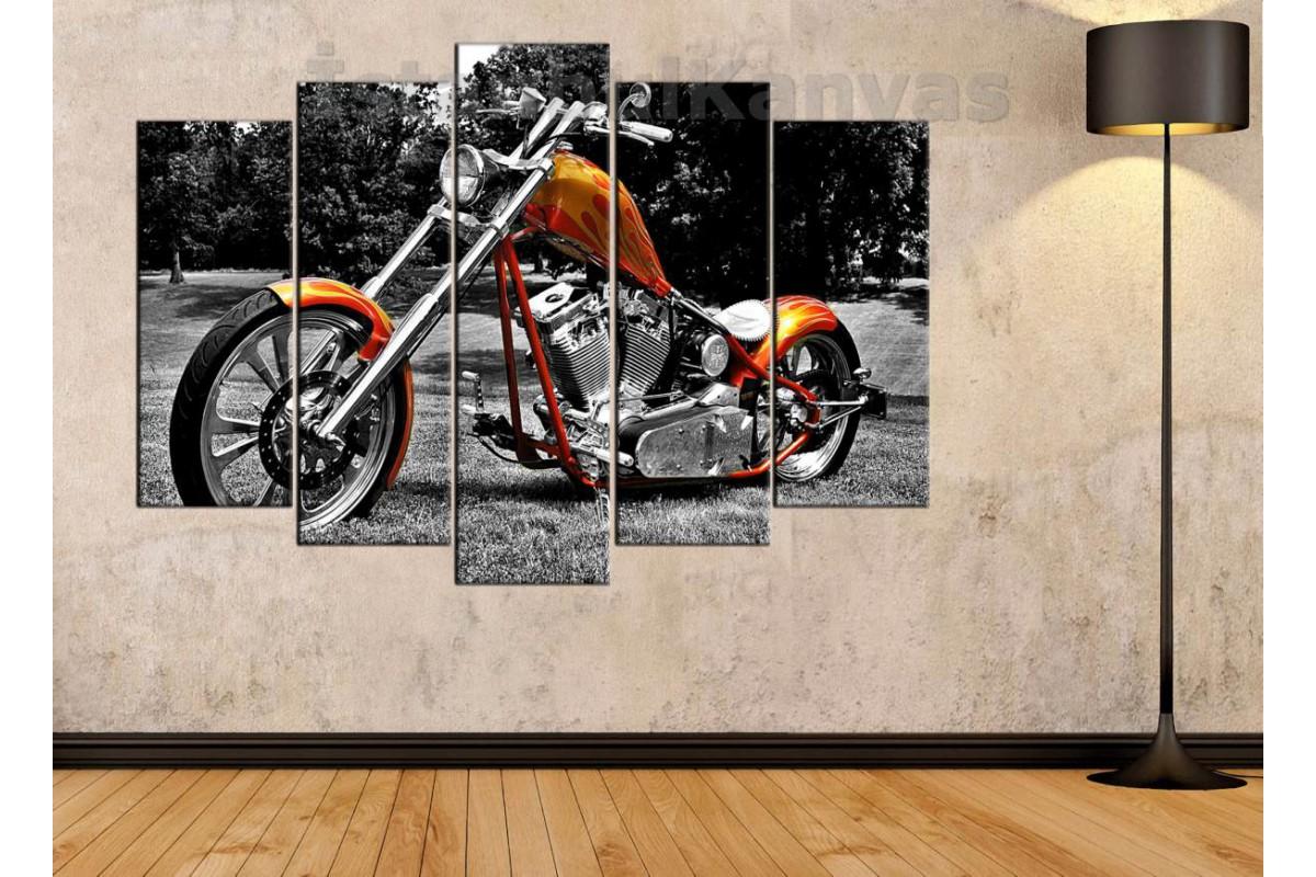 sm11 - Özel Yapım Motosiklet Kanvas Tablo