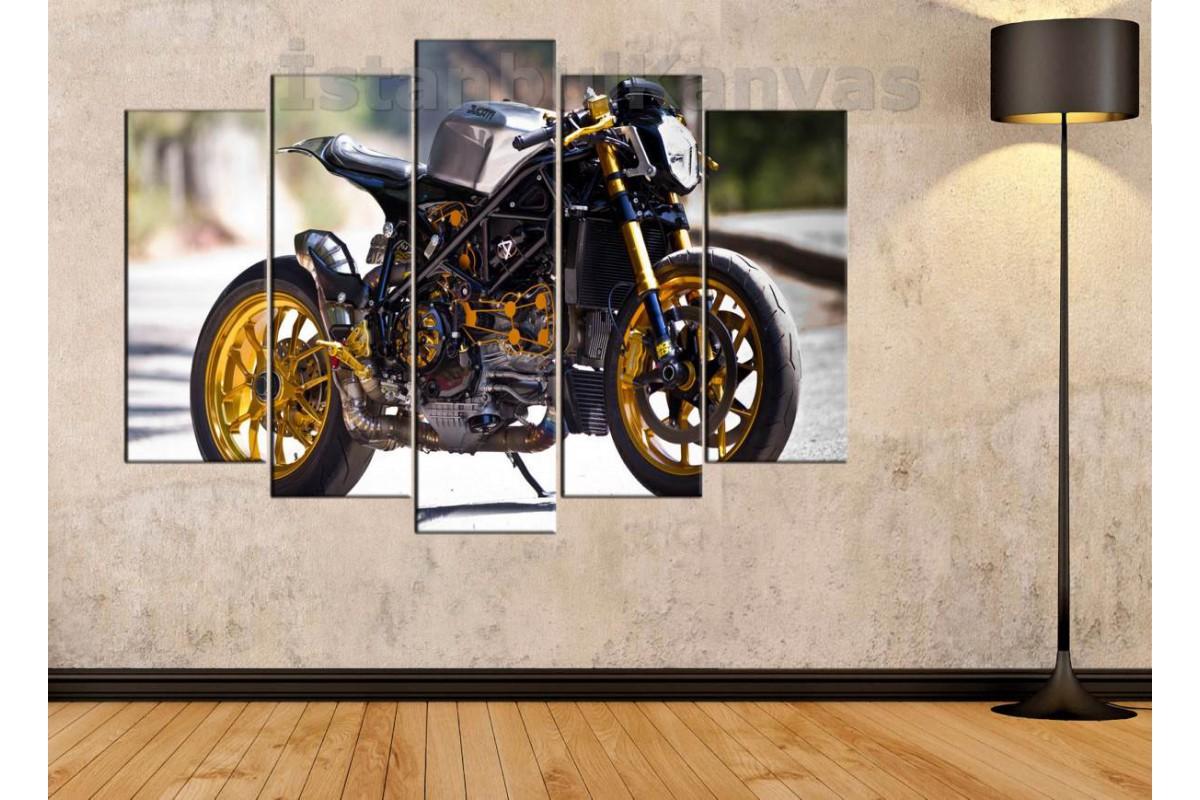 sm12 - Ducati Racer Motosiklet Kanvas Tablo