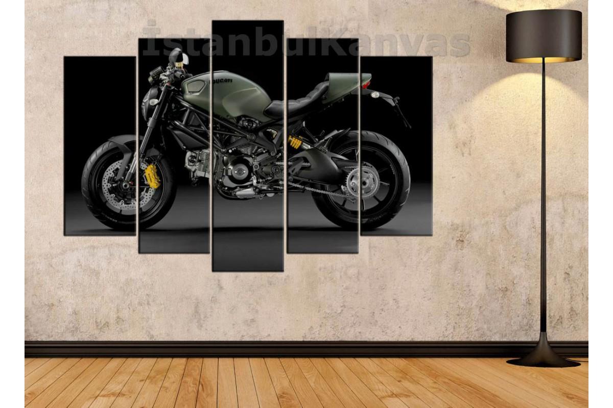 sm13 - Ducati Monster Motosiklet Kanvas Tablo