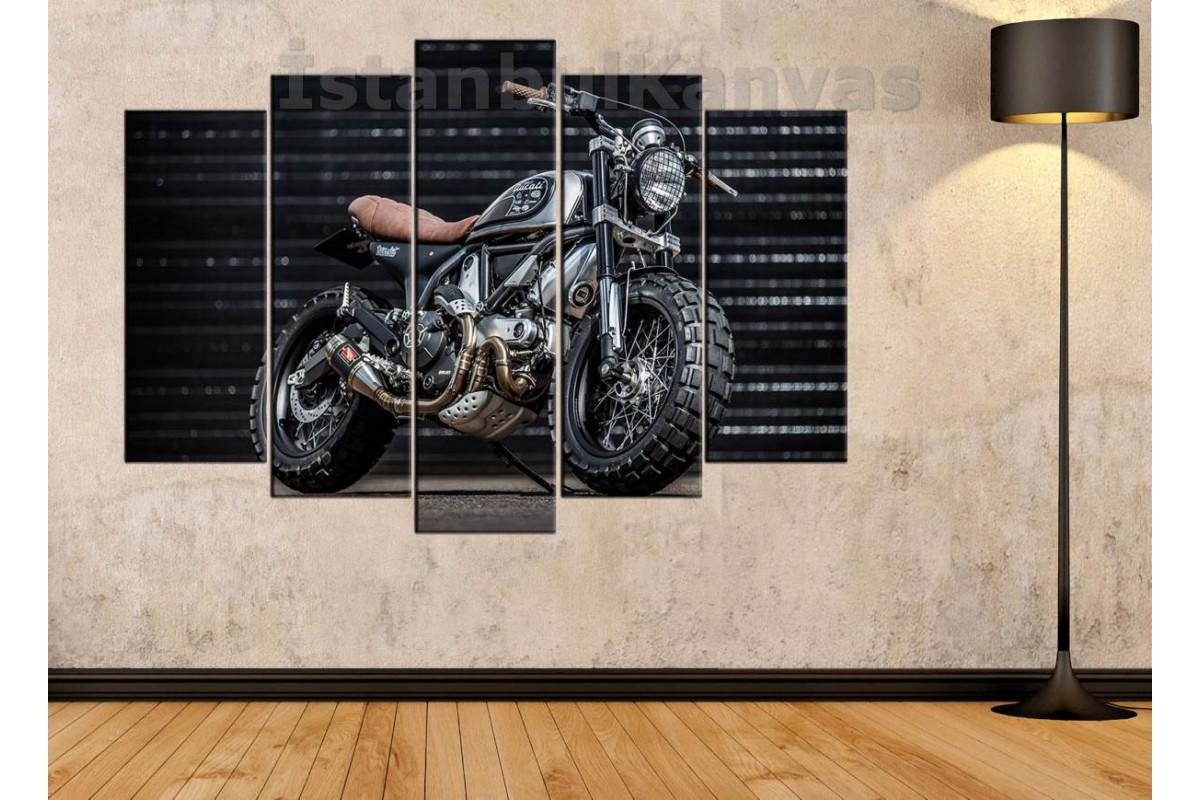 sm14 - Ducati Scrambler Motosiklet Kanvas Tablo