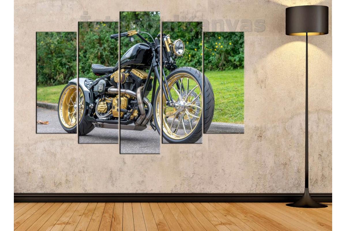 sm16 - Custom Harley Davidson Motosiklet Kanvas Tablo
