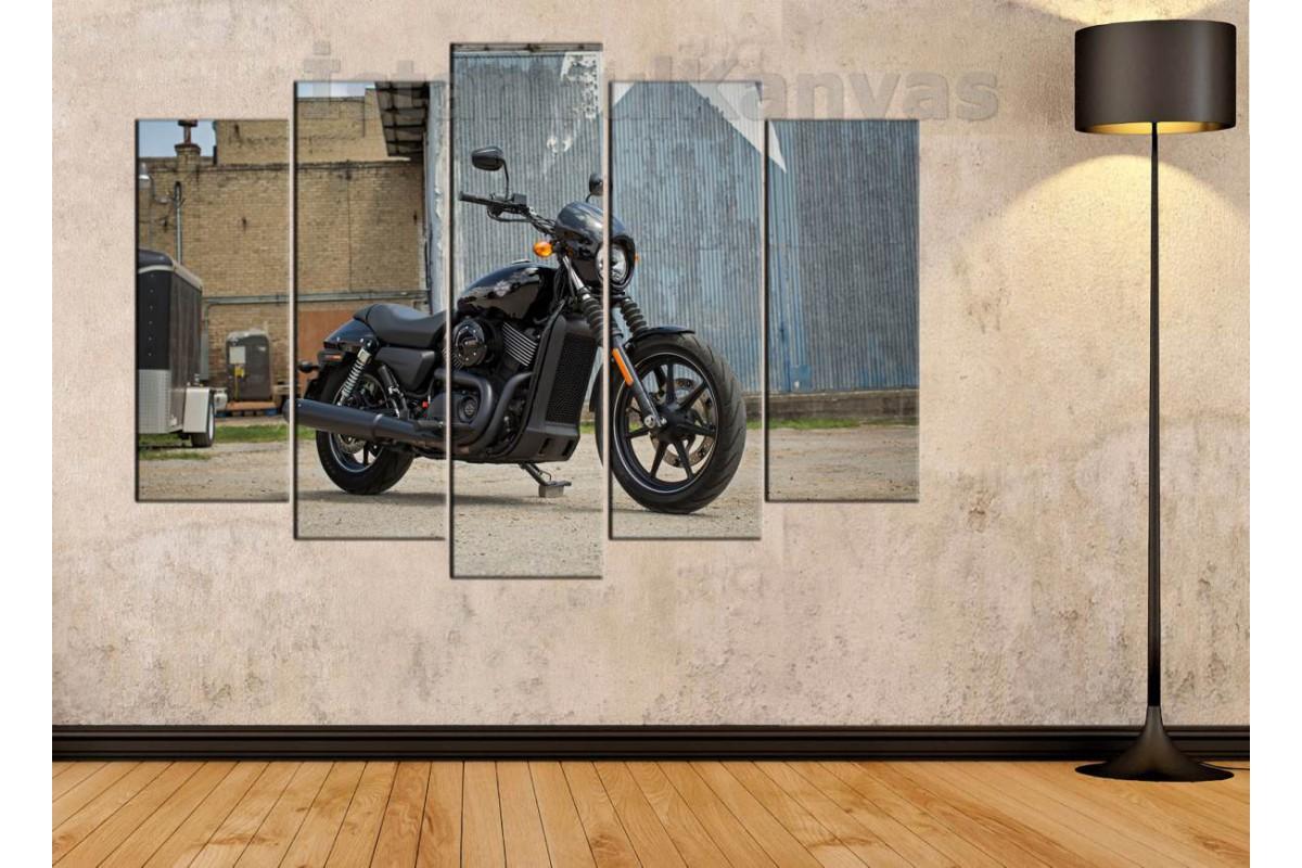 sm17 - Harley Davidson Street Motosiklet Kanvas Tablo