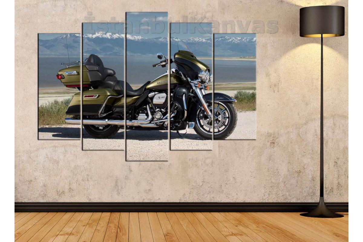 sm18 - Harley Davidson Touring Motosiklet Kanvas Tablo