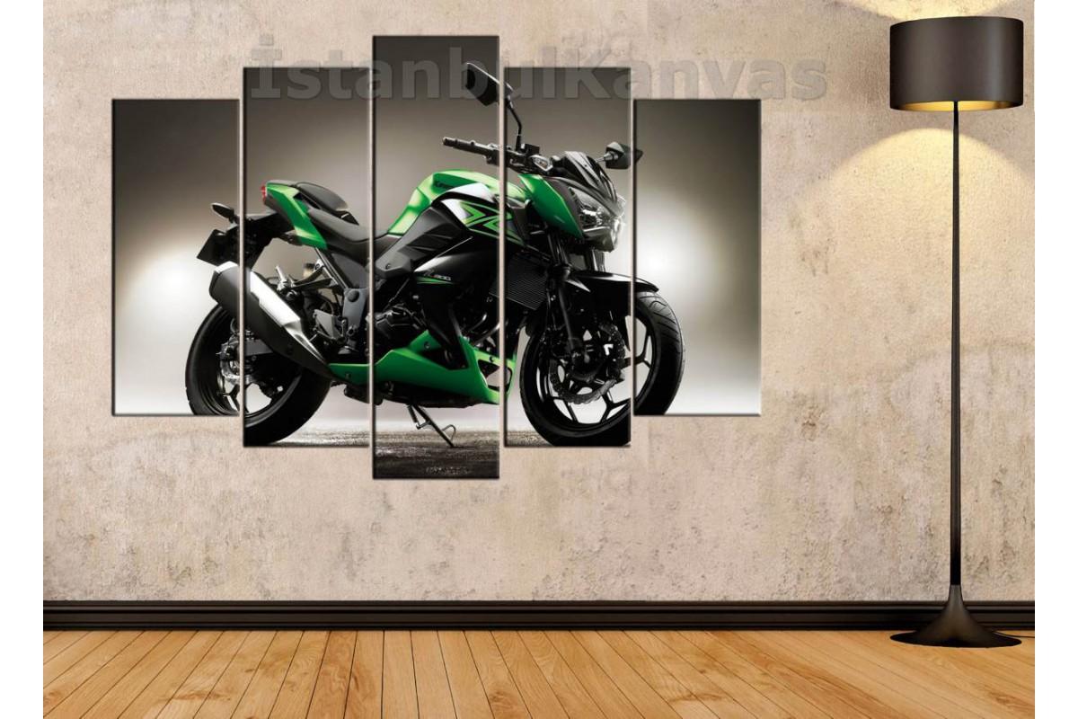 sm21 - Kawasaki Z300 Motosiklet Kanvas Tablo