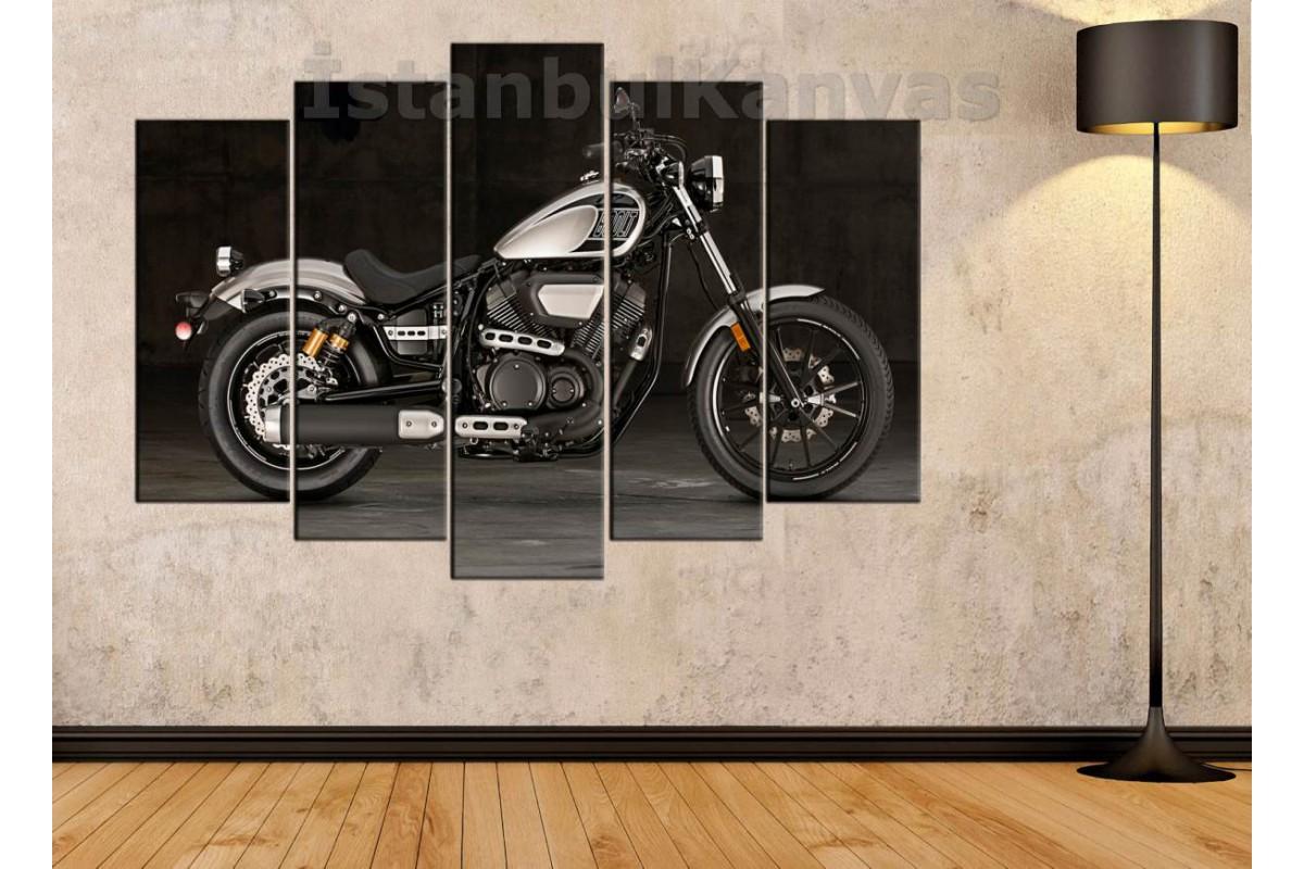 sm34 - Yamaha Bolt Motosiklet Kanvas Tablo