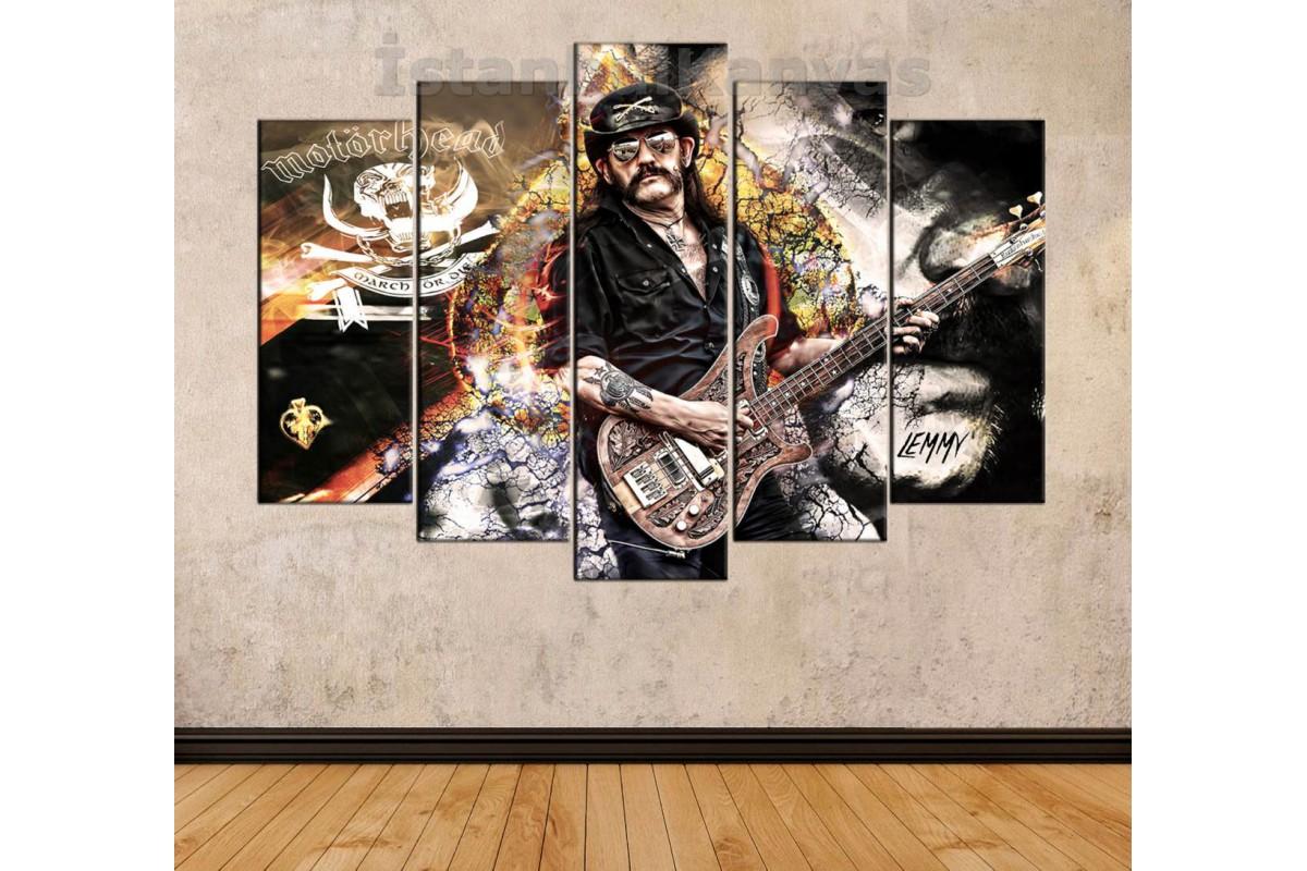 srck1 - Motörhread Vokalisti LEMMY Kilmister anısına özel tasarım kanvas tablo