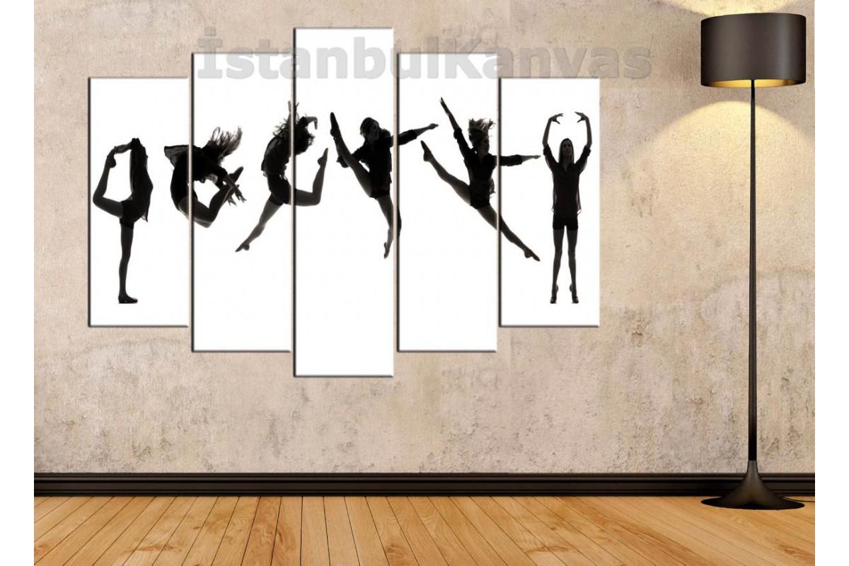 srd13b - Modern Dansçı kız Kanvas Tablo