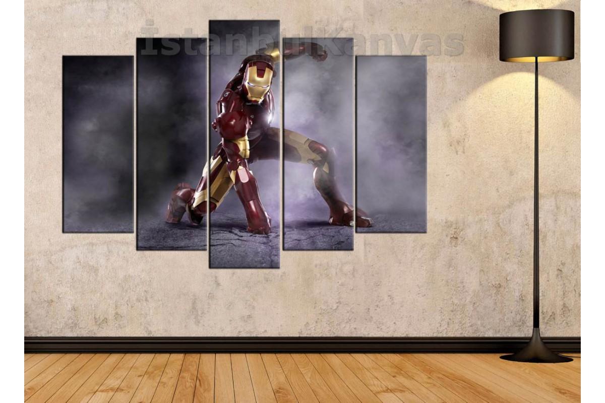 srk14_5p - Iron man - Demir Adam - çizgi roman - süper kahraman kanvas tablo