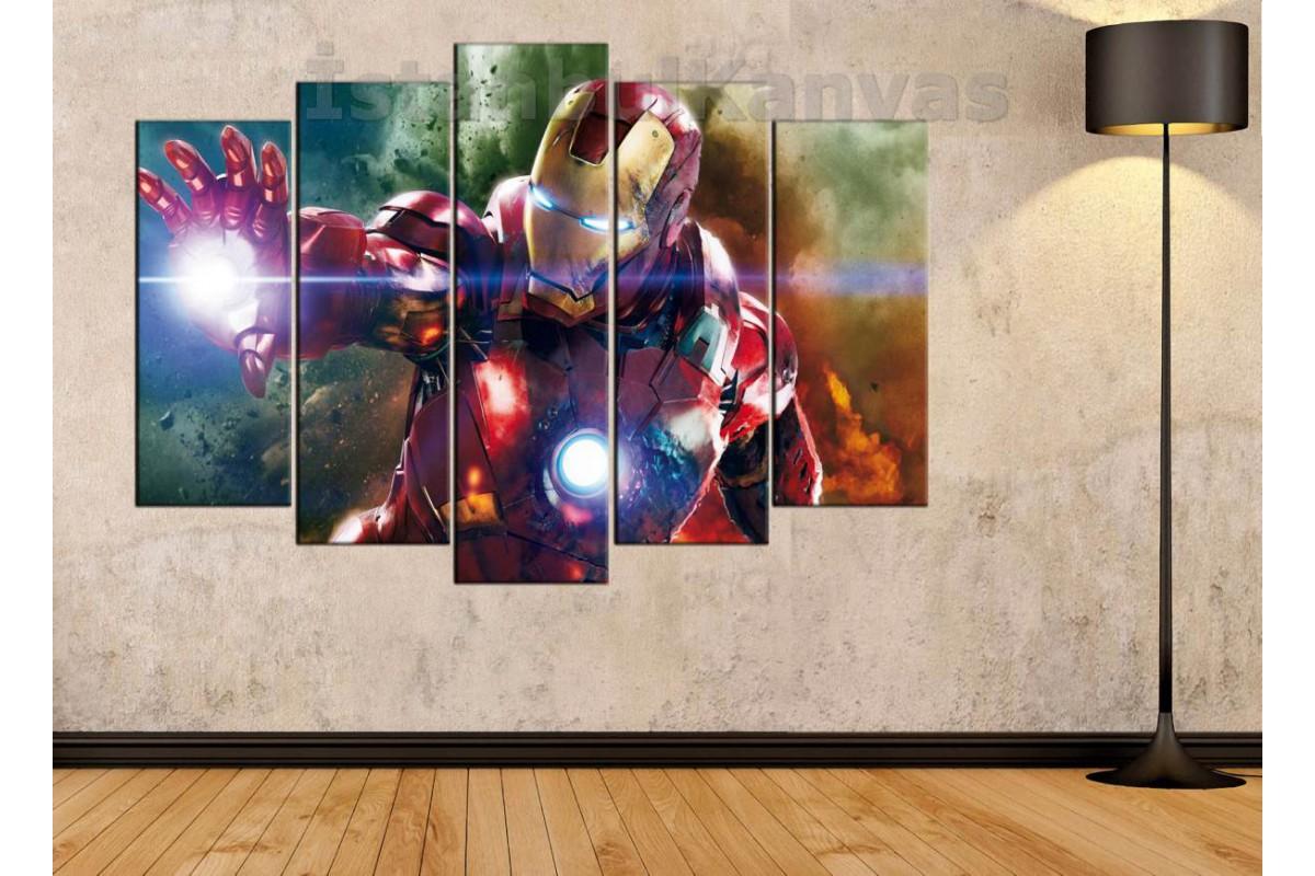 srk14c_5p - Demir Adam, Iron Man, Süper Kahraman, Avengers kanvas tablo
