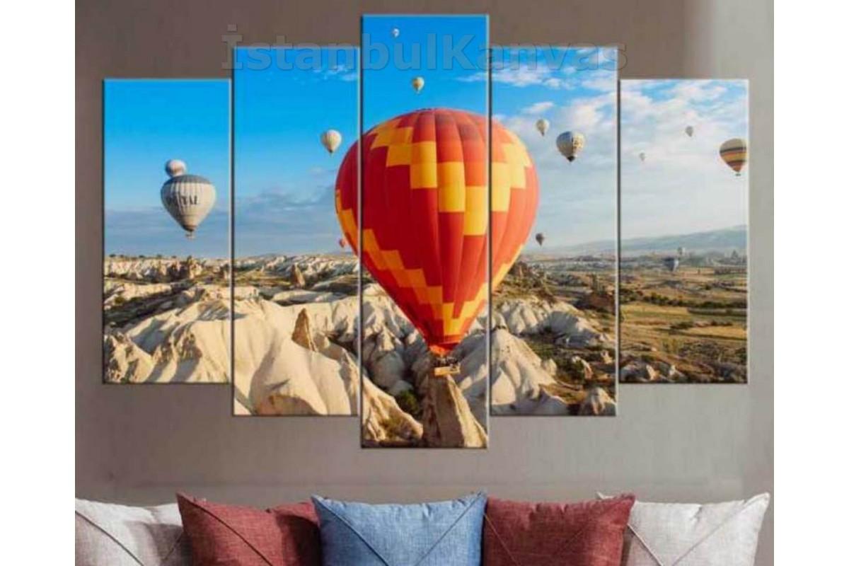 srk30 - Kapadokya manzarası ve Balonlar Kanvas Tablo