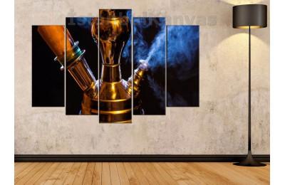 srkn02 - Nargile - Nargileci - Cafe - Kahvehane için Dekoratif Kanvas Tablo