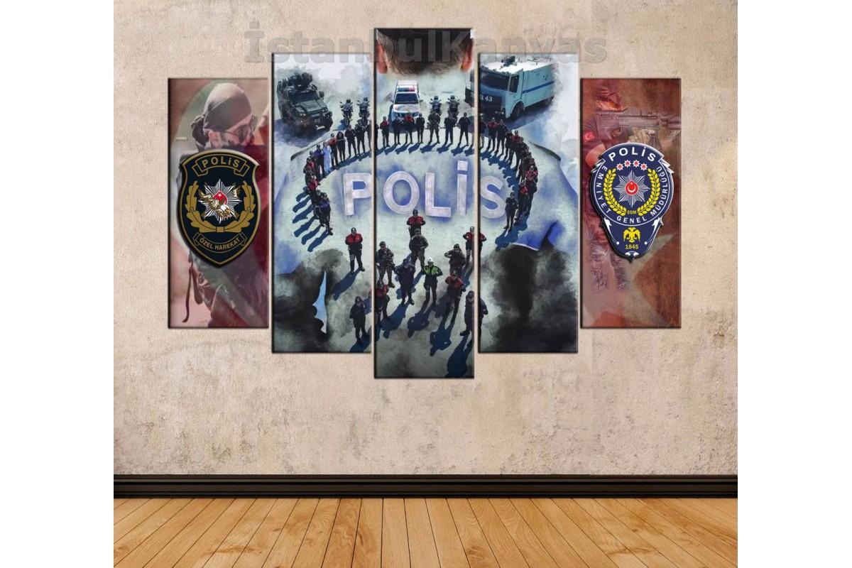 srkp3 - Polis Teşkilatı, Polis Özel Harekat , PÖH, özel tasarım kanvas duvar tablosu
