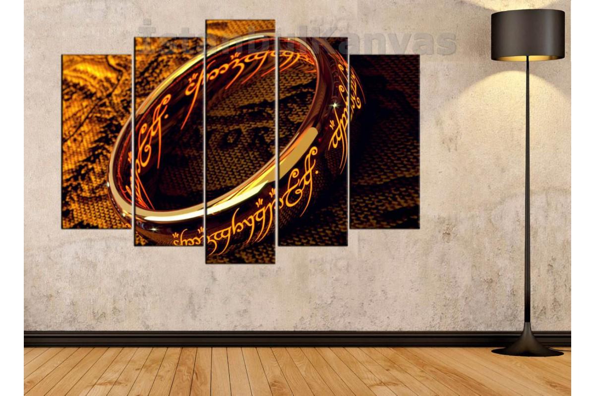 srks15 - Yüzüklerin Efendisi - Tek Yüzük - Sauron'un güç yüzüğü kanvas tablo