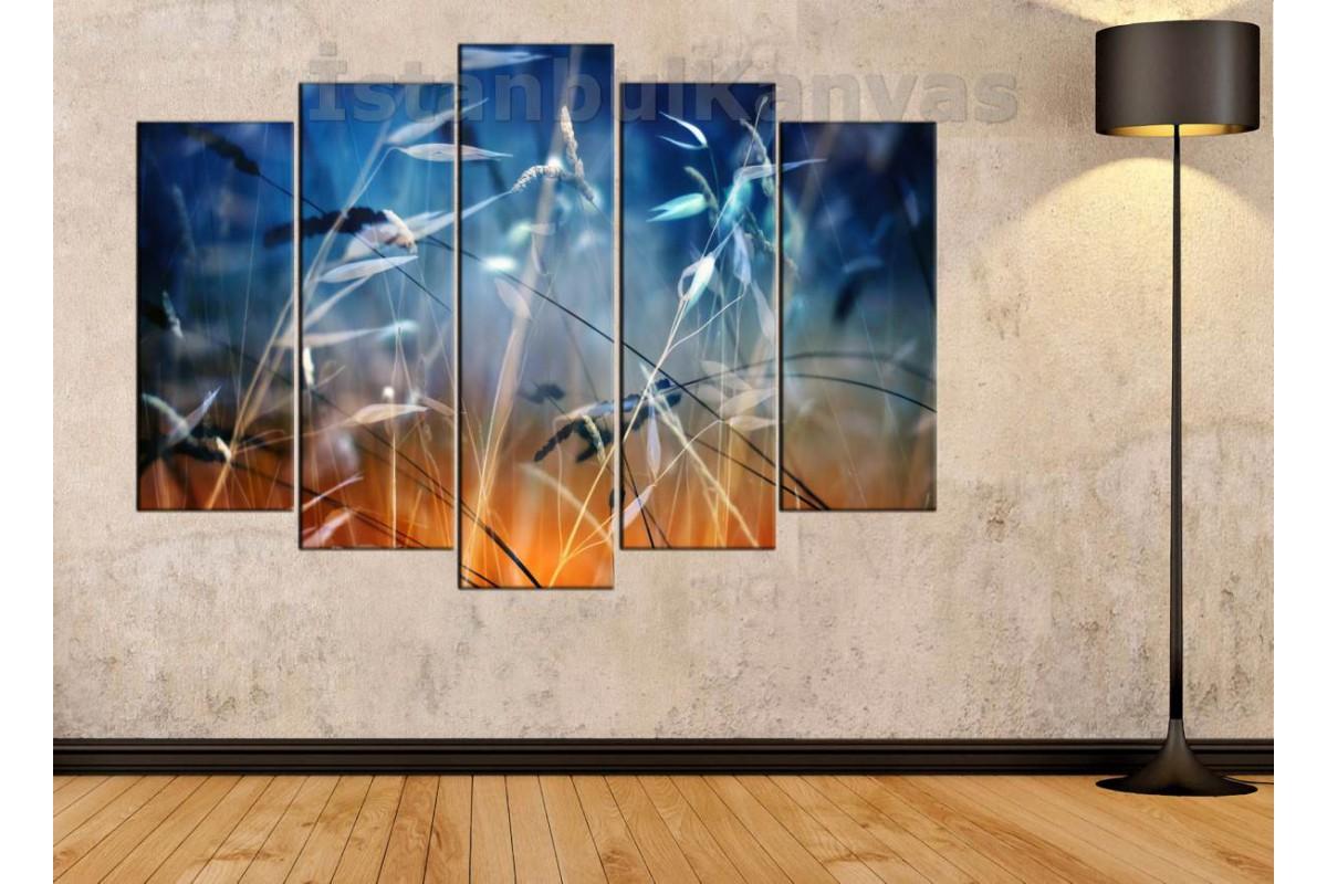 srks8 - Doğa Manzaralı Dekoratif Soyut Kanvas Duvar Tablosu