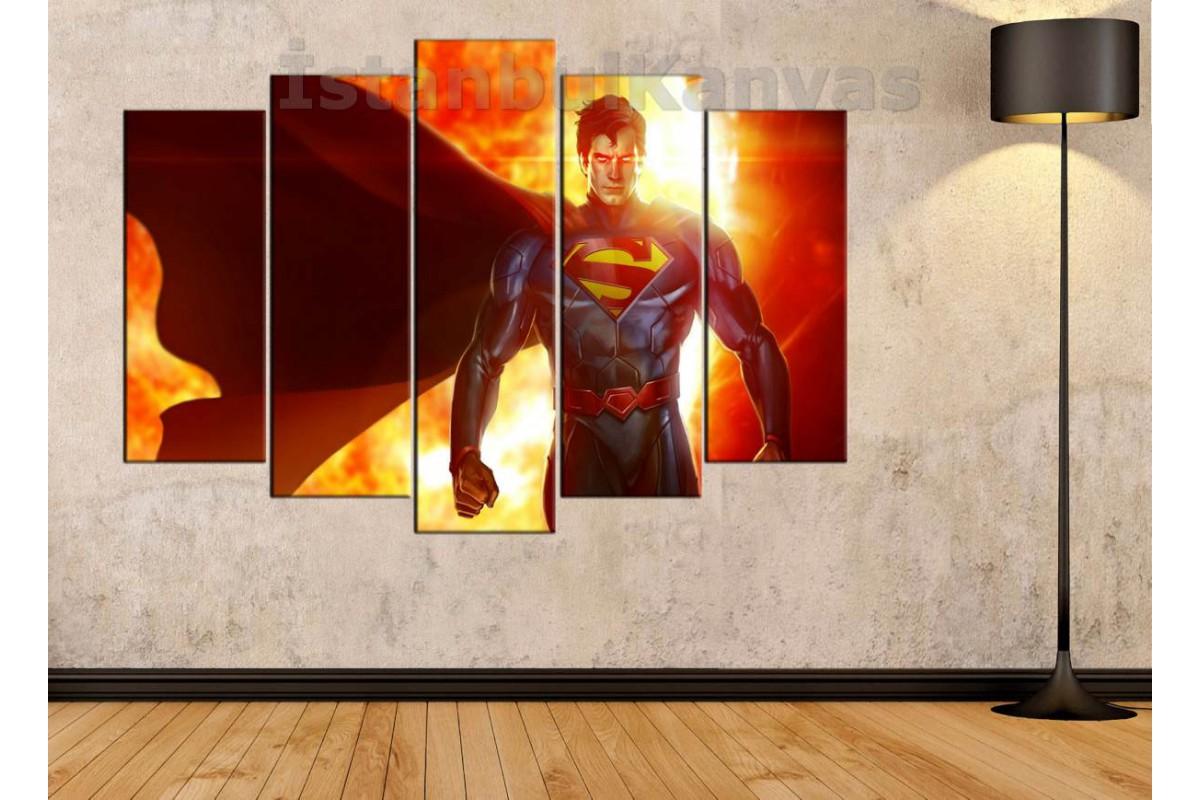 srsh20b - Superman, Süpermen, Çizgi roman görünümlü kanvas tablo