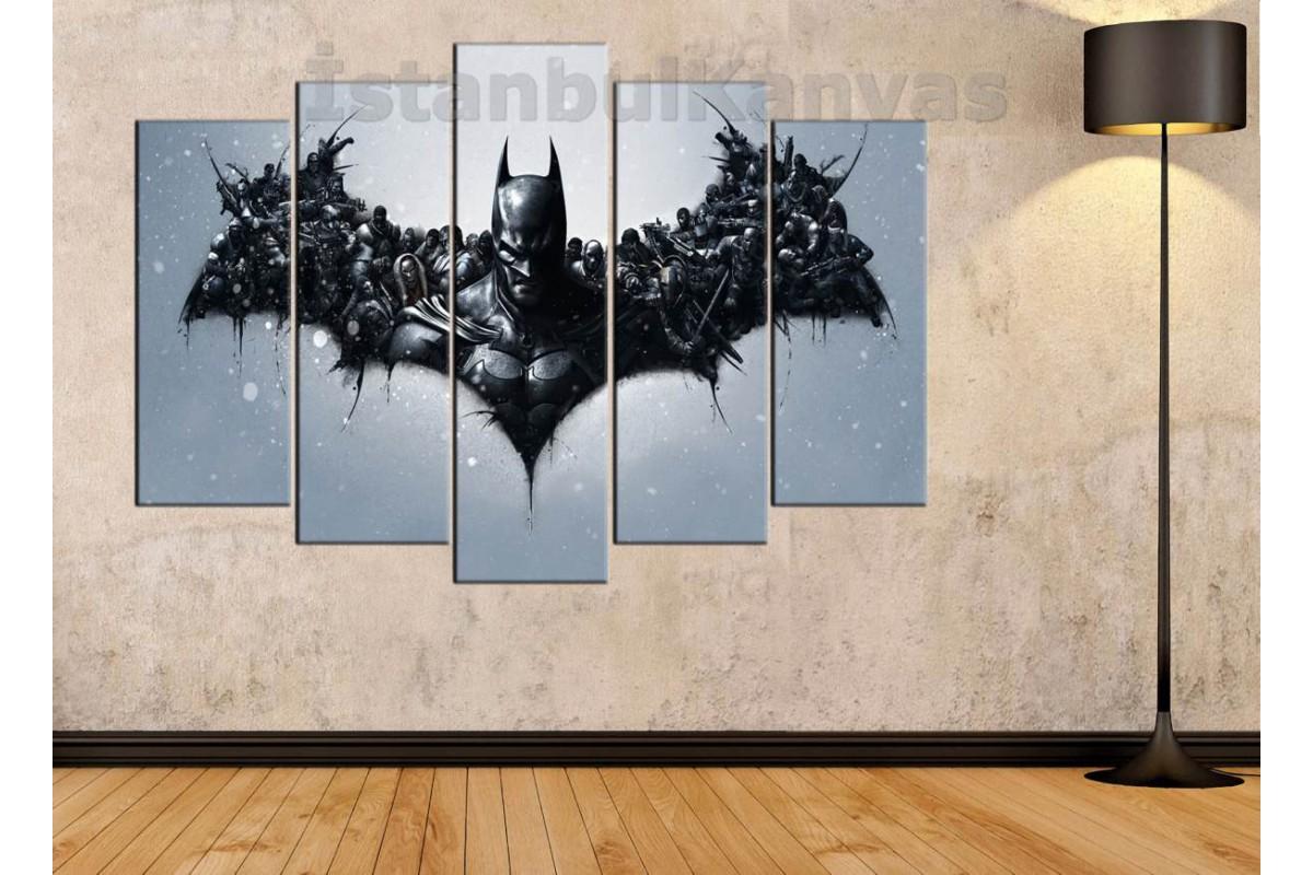 srsh27b - Batman ve Düşmanları, süper kahraman, Çizgi Roman kanvas tablo