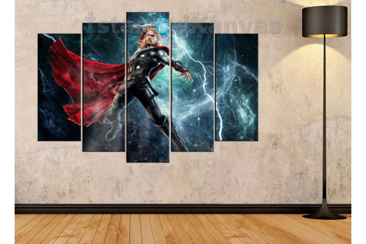 srsh5b - God of Thunder Thor ve Çekici Mjollnir - Avengers kanvas tablo