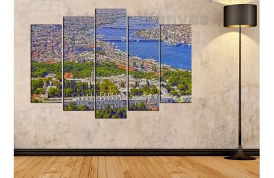 srst04 - Topkapı Sarayı ve Haliç - Tarihi yarım ada manzaralı kanvas tablo