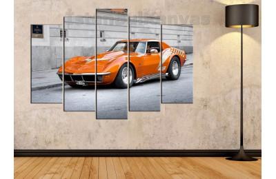srvc1 - Pontiac - Klasik Araba - Eski Araba - Vintage Otomobil Kanvas Tablo