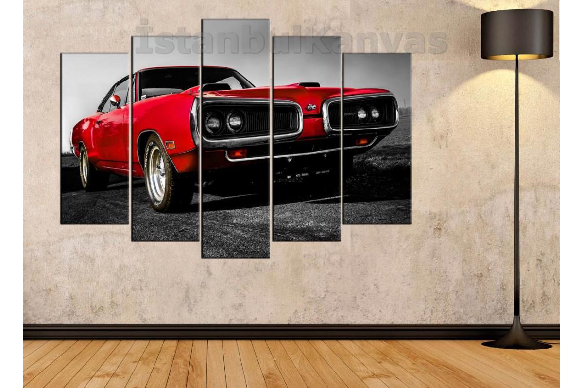 srvc18 - Dodge 440 Klasik Otomobil - Vintage - Eski Araba Kanvas Tablo