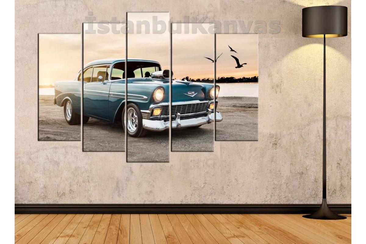 srvc19 - Chevrolet 1956 Klasik Araba - Vintage Otomobil Kanvas Tablo