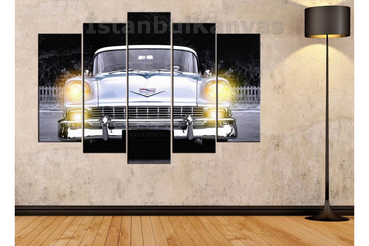 srvc26 - Chevrolet Klasik Araba - Vintage Otomobil Kanvas Tablo