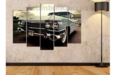 srvc4 - Cadillac Coupe Deville Klasik Araba - Eski -Vintage Otomobil Kanvas Tablo