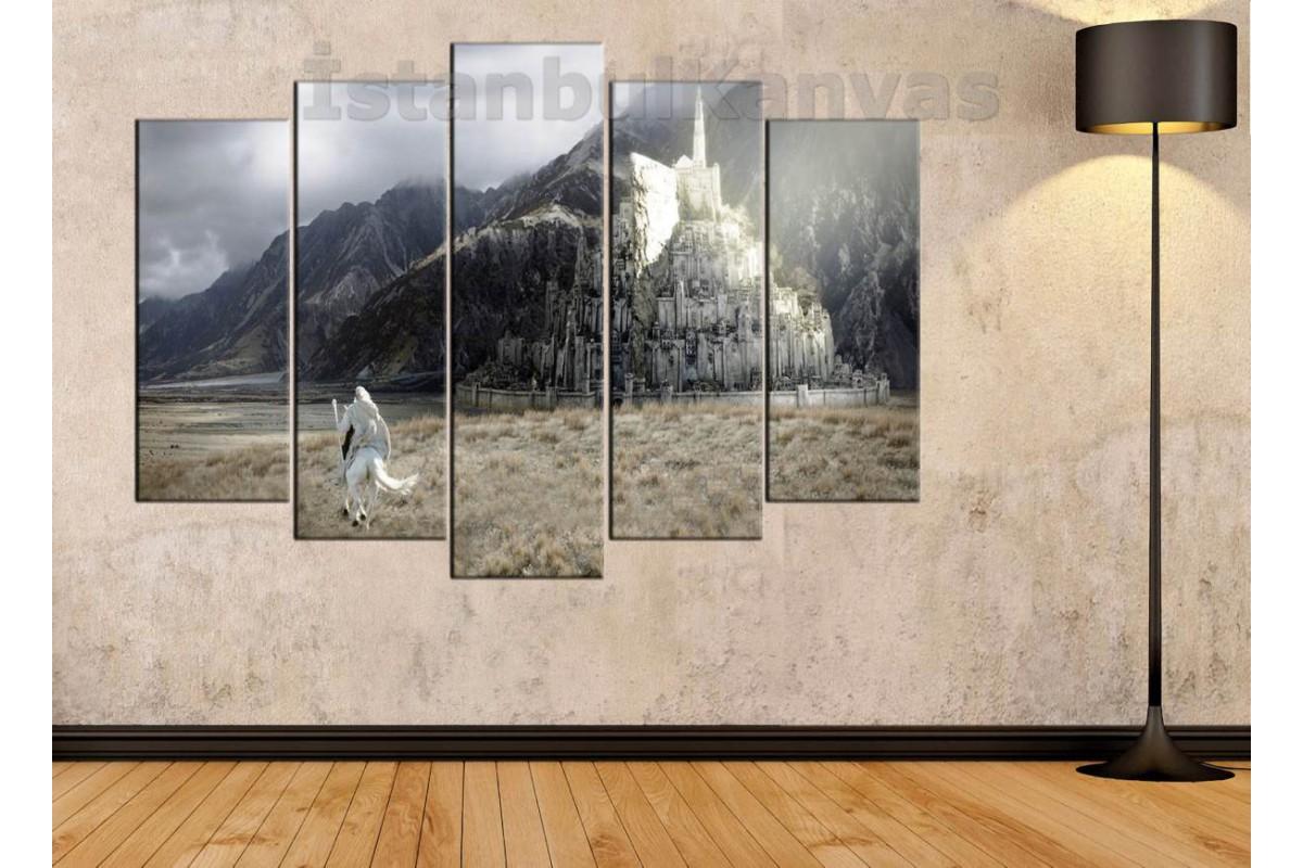 srye12 - Lord of the Rings - Yüzüklerin efendisi - GANDALF - MINAS TIRITH kanvas tablo