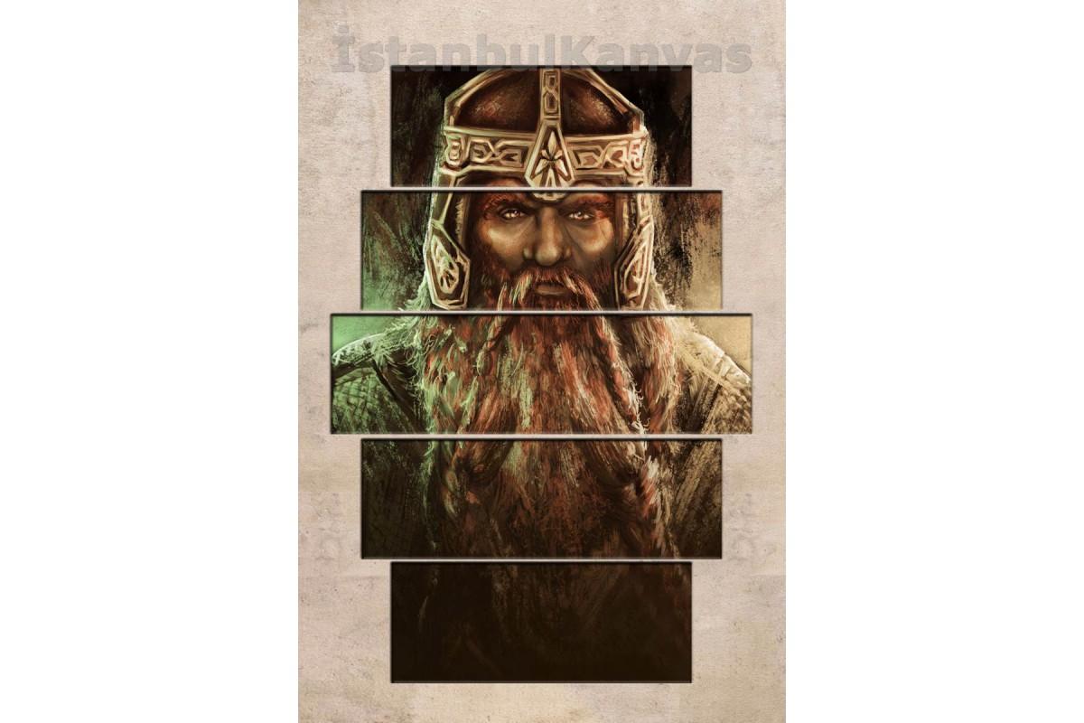 srye17 - GİMLİ -YAĞLI BOYA GÖRÜNÜM - Yüzüklerin Efendisi (LORD OF THE RINGS) Kanvas Tablo
