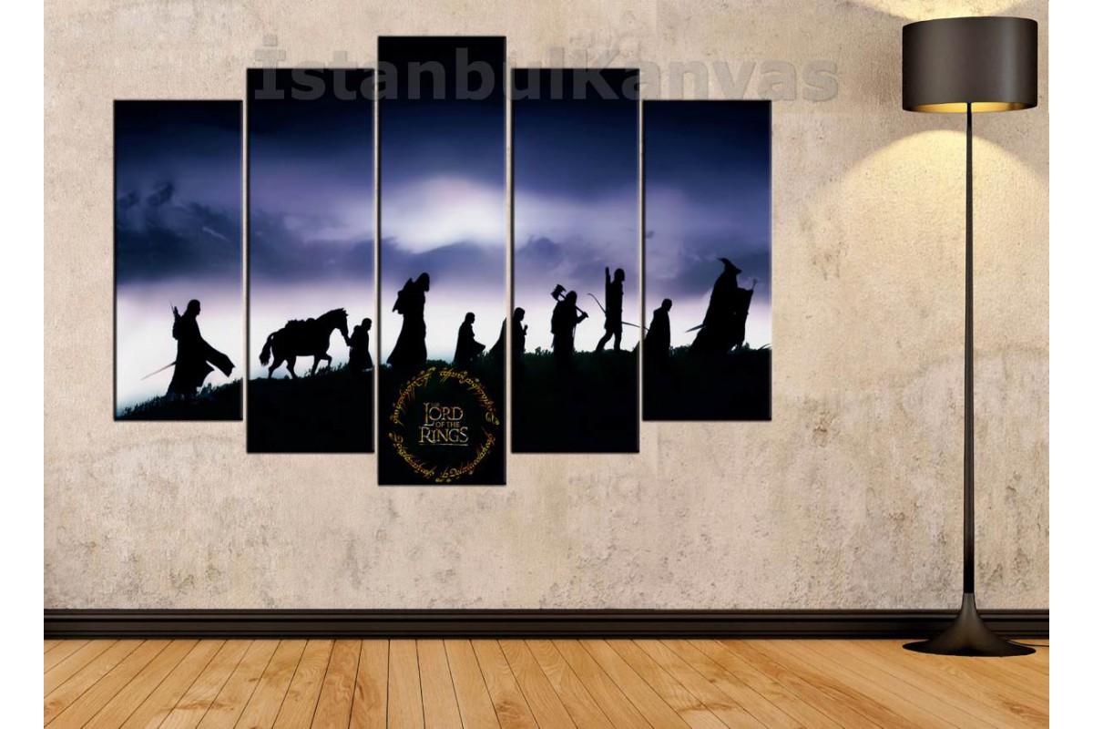 srye25c - Yüzüklerin Efendisi, Yüzük Kardeşliği, LOTR-Lord of the Rings-Fellowship Kanvas Tablo