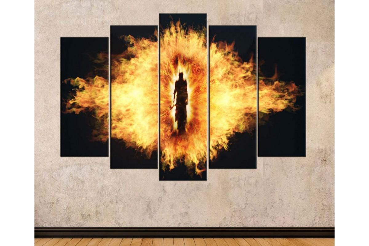 srye32 - Yüzüklerin Efendisi - Lord of the Rings - Lord Sauron Kanvas Tablo