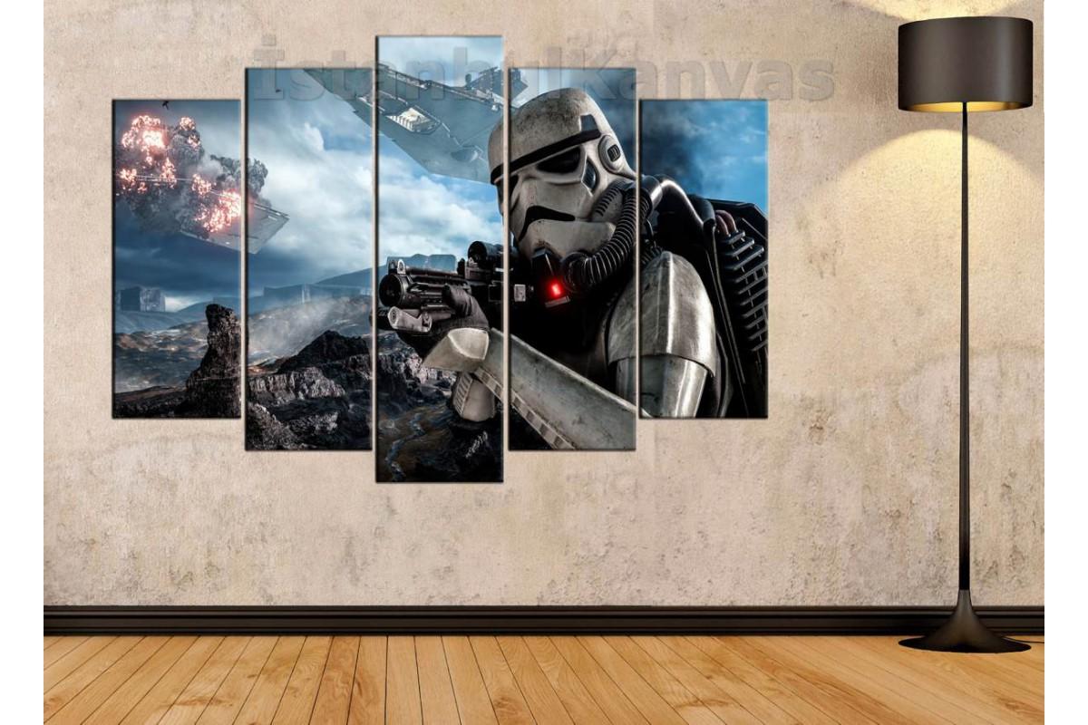 sww5 - Storm Trooper STAR WARS (YILDIZ SAVAŞLARI) KANVAS TABLO