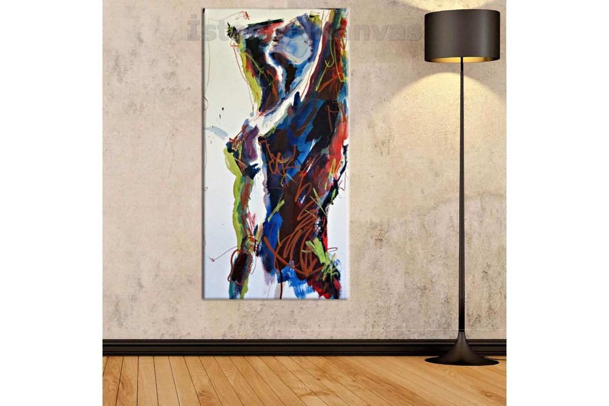 srnd2 - Soyut Dekoratif Yağlı Boya Görünümlü Nü kanvas tablo
