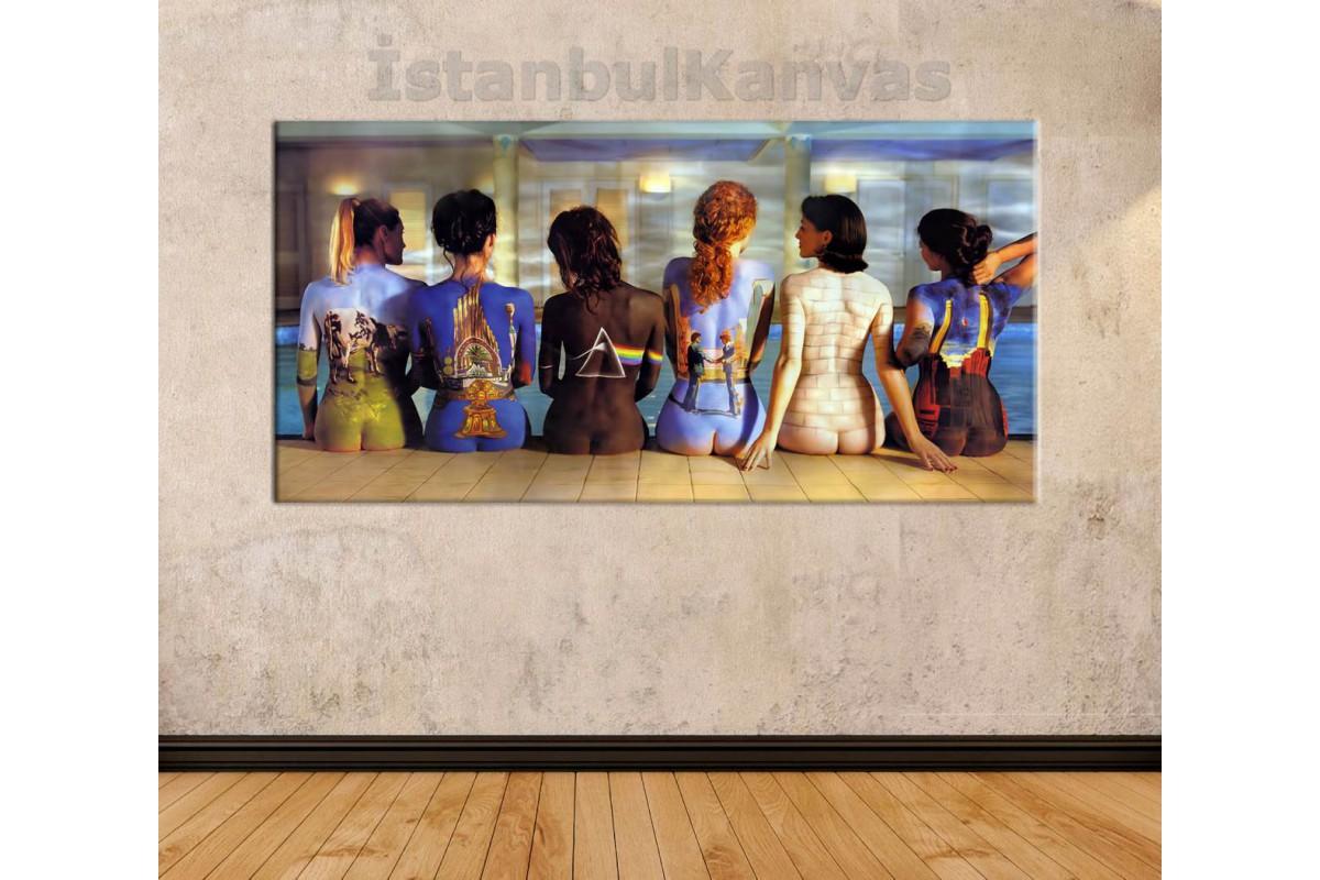 srnd3 - Pink Floyd - Back Catalogue Havuz Başında Oturan 6 Kadın, Nü kanvas tablo